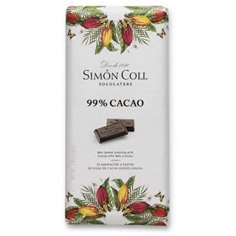 Tableta chocolate 99% cacao Simon Coll