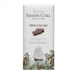 Tableta chocolate 70% cacao Simon Coll