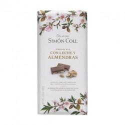 Tableta de chocolate con leche y almendras Simon Coll
