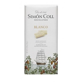 Tableta de chocolate blanco Simon Coll